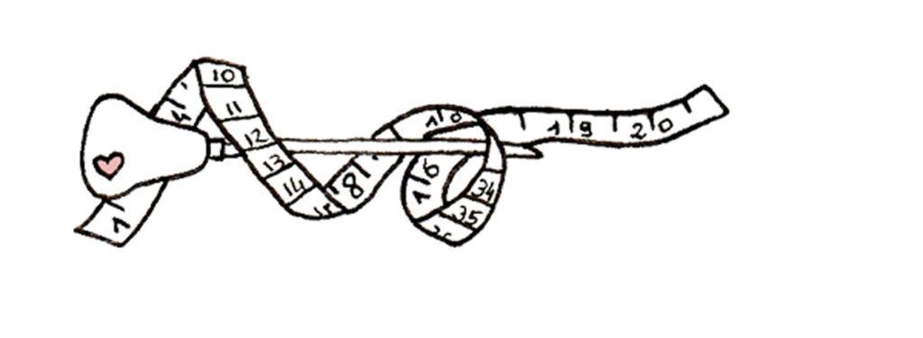 Illustration Rose de Biboun - Interdit de reproduction - Gouge de gravure et mètre pour le sur-mesure