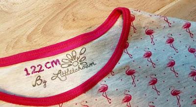 Couturière By Littletchoum, marque de vêtement tamponnée sur tissu