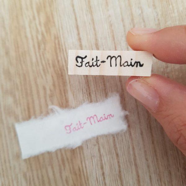 Tampon Fait Main police manuscrite