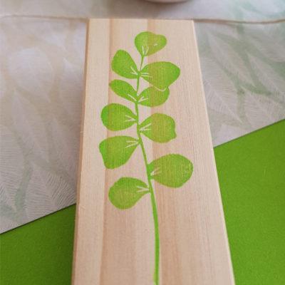 tampon branche d'eucalyptus grave main