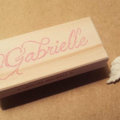 Tampon prénom gabrielle cadeau de naissance