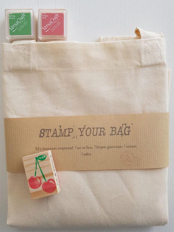 Tote bag à décorer soi-même avec un tampon