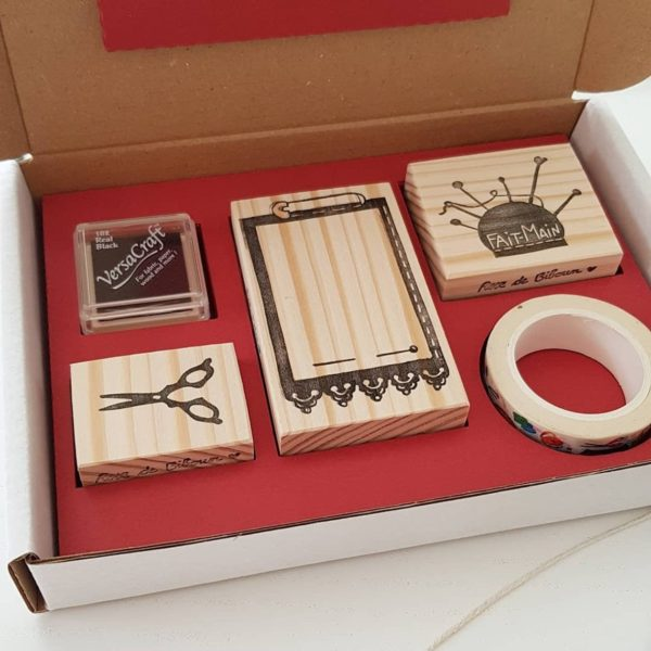 Coffret tampons couture Stamp and Sew