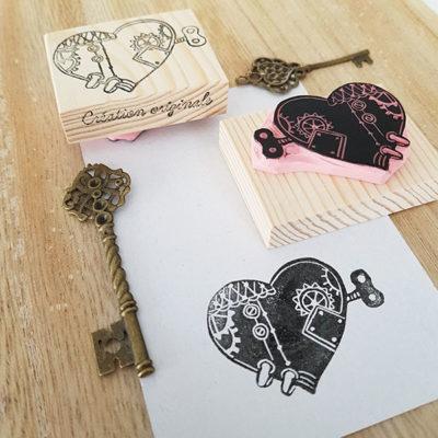 Tampon Mécanique du coeur steampunk