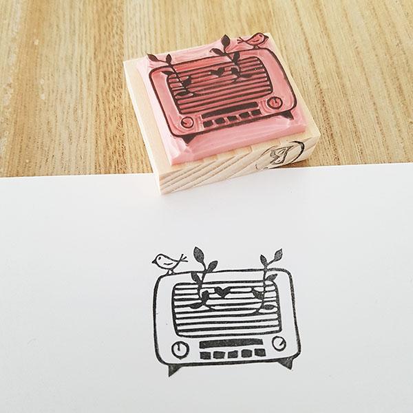 tampon radio vintage nature