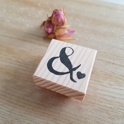 esperluette mariage tampon