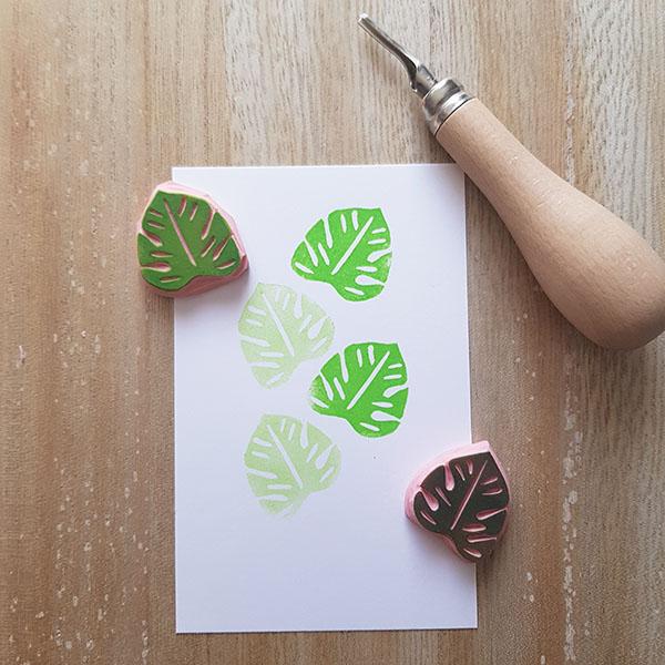 atelier en ligne de gravure de tampons à la main