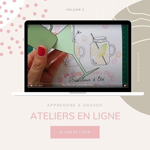 atelier en ligne gravure de tampons sur gomme